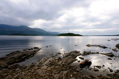 Lake Killarney. Lake with rocks in killarney Royalty Free Stock Photography