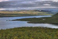 Lake Kilpisjarvi from Saana fell Royalty Free Stock Image
