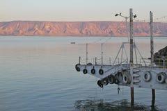 Lake Kinneret at dawn Stock Photography