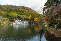 Lake Kinrinko in Yufuin, Kyushu, Japan. Yufuin is a popular Onsen resort in Kyushu, Japan. Lake Kinrinko is another natural landmark of Yufuin besides Yufu Royalty Free Stock Photography