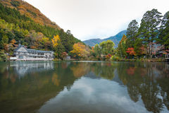 Lake Kinrinko in Yufuin, Kyushu, Japan Stock Image