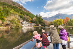 Lake Kinrinko in Yufuin Town Oita, Japan Royalty Free Stock Photo