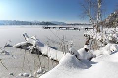 Lake Kirchsee, Bavaria, Germany Royalty Free Stock Image