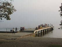 Lake Kivu public beach royalty free stock photography