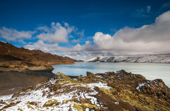 Lake Kleifarvatn, Iceland Stock Photos