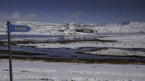 Lake Kleifarvatn at Reykjanes peninsula in Iceland royalty free stock photos