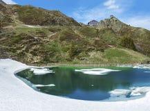 Lake in Kleine Scheidegg, Jungfrau, Swiss Royalty Free Stock Images