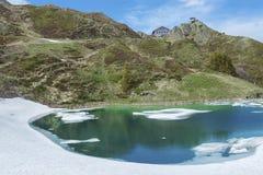 Lake in Kleine Scheidegg, Jungfrau, Swiss Royalty Free Stock Image