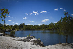 Lake at Klondike Park Royalty Free Stock Photo