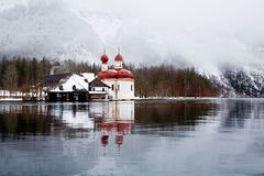 Lake Koenigsee Royalty Free Stock Photography