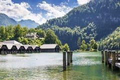 Lake Koenigssee Stock Photo