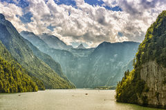 Lake Koenigssee. In Berchtesgaden, Bavaria, Germany Royalty Free Stock Images