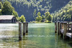 Lake Koenigssee. In Berchtesgaden, Bavaria, Germany Royalty Free Stock Photography