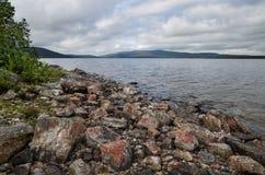 Lake Kolvitsa Northern Russia Stock Photo