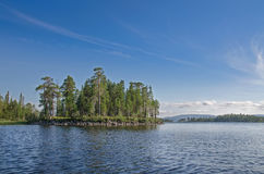 Lake Kolvitsa Northern Russia Royalty Free Stock Photography