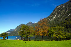 Lake Konigssee Royalty Free Stock Photography