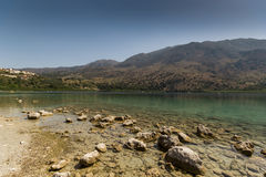 The Lake Kourna Crete. Stock Photos