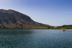 The Lake Kourna Crete. Stock Photo