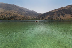 The Lake Kourna Crete. Stock Image