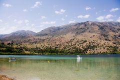 Lake Kournas, Crete, Greece Royalty Free Stock Photography