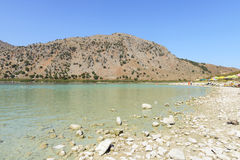 Lake Kournas. Crete. Greece Royalty Free Stock Photo