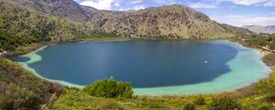 Lake Kournas Royalty Free Stock Images