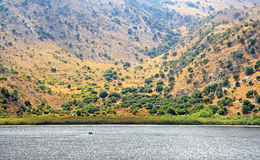 Lake Kournas at island Crete stock photography