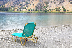 Lake Kournas at island Crete royalty free stock images