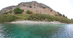 Lake Kournas at island Crete royalty free stock photo