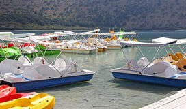 Lake Kournas at island Crete Royalty Free Stock Image