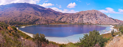 Lake Kournas panorama Stock Image