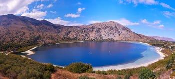 Lake Kournas panorama Royalty Free Stock Photos