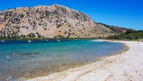Lake Kournas summer. Crete Stock Photography