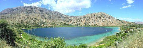 Lake Kournos panorama Stock Image