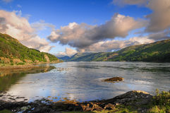 Lake in Kyle of Lochalsh. Image of a lake in Scotland near Kyle of Lochalsh Royalty Free Stock Image