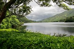 Lake at Kylemore Abbey Castle, Galway, Ireland Royalty Free Stock Images
