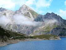 Mountain lake alpine landscape Stock Images
