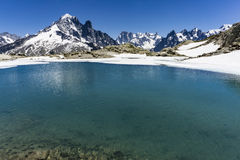 Lake Lac Blanc on the background of Mont Blanc massif. Alps. Royalty Free Stock Photography
