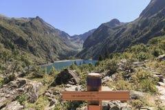 SigS of Lake Lac du Lauvitel royalty free stock photography