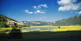 Lake Laceno. A wonderful view of Lake Laceno, Italy Royalty Free Stock Photo