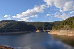 Lake of Lacul Vidraru, Transfagarasan, Romania. View of the lake of Lacul Vidraru, Transfagarasan, Romania royalty free stock images