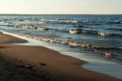 Lake Ladoga beach Royalty Free Stock Photo