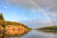 Lake Ladoga, Karelia, Россия Стоковое Изображение