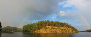 Lake Ladoga, Karelia, Россия Стоковая Фотография