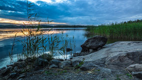 Lake Ladoga. In the Karelia stock images