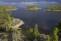 Lake Ladoga, Karelia, Russia Royalty Free Stock Photos