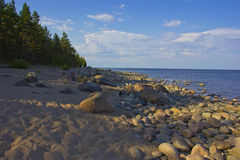 Lake Ladoga, Priozersk, Russia Royalty Free Stock Images