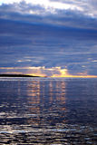 Lake Ladoga. Sunset. Lake Ladoga which is in the north of Russia Royalty Free Stock Photography