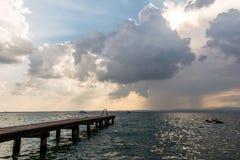 Lake Lago Di加尔达,意大利 库存照片