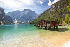 Lake Lago Di Braies Royalty-vrije Stock Afbeeldingen
